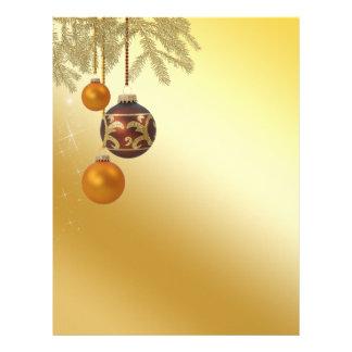 Natal dourado elegante - cabeçalho dos artigos de papel timbrado