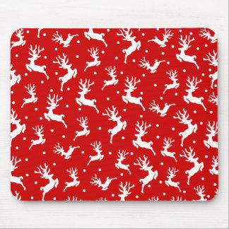 Natal elegante | Mousepad da rena de Ditsy