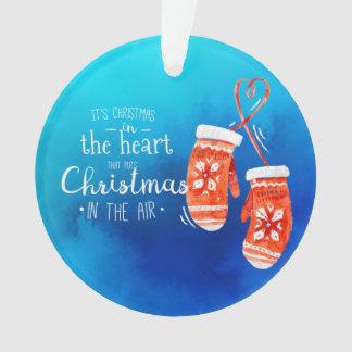Natal elegante no ornamento do coração  