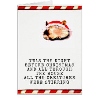 Natal engraçado cartão comemorativo