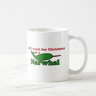Natal engraçado de Narwhal Caneca De Café