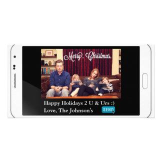 Natal engraçado de Texting horizontal Cartão Com Foto