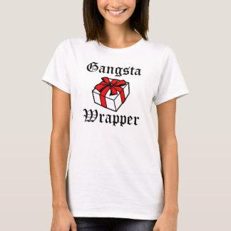 Natal engraçado do envoltório de Gangsta Camiseta