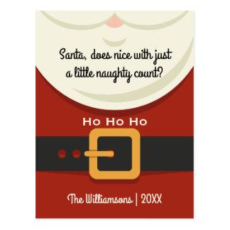 Natal engraçado feriado impertinente & agradável cartão postal
