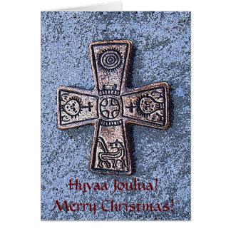 Natal escandinavo alegre! cartão