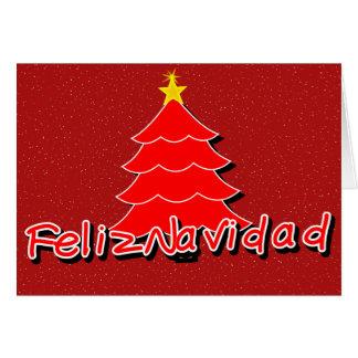 Natal espanhol cartão comemorativo