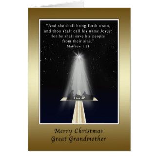 Natal, excelente - avó, religiosa cartão comemorativo