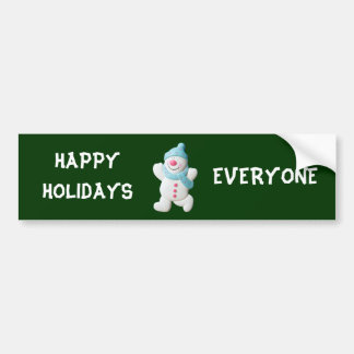 Natal feito sob encomenda bonito do boneco de neve adesivo