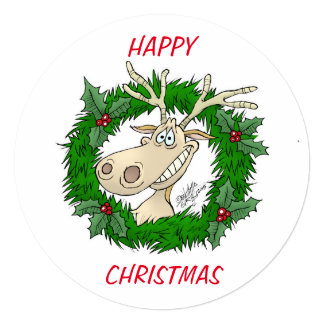 Natal feliz convite quadrado 13.35 x 13.35cm