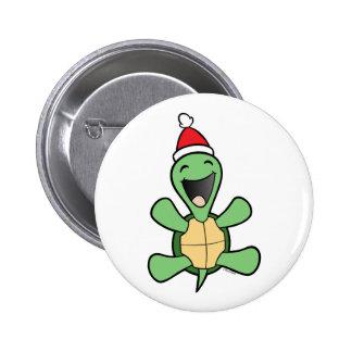 Natal feliz da tartaruga boton