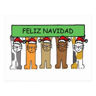 Natal feliz de Feliz Navidad no espanhol Cartão Postal