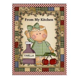Natal Gingherbread de meu cartão da cozinha