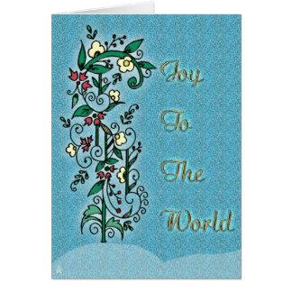 Natal húngaro da arte popular cartão