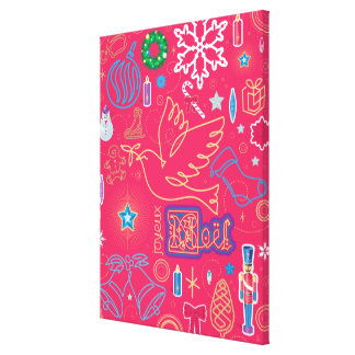 Natal icónico impressão de canvas esticada