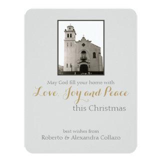 Natal: Igreja Católica Convite 10.79 X 13.97cm