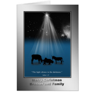 Natal, irmão e família, religiosos, natividade cartoes
