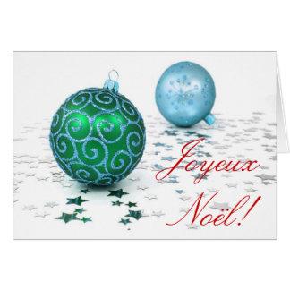 Natal Joyeux Noel Cartão Comemorativo