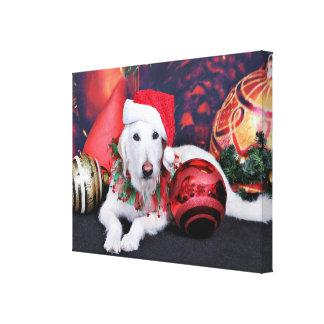 Natal - LabraDoodle - Izzy Impressão De Canvas Esticada