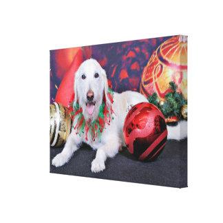 Natal - LabraDoodle - Izzy Impressão Em Tela Canvas