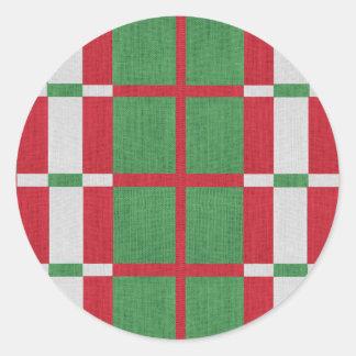 Natal listrado adesivo redondo