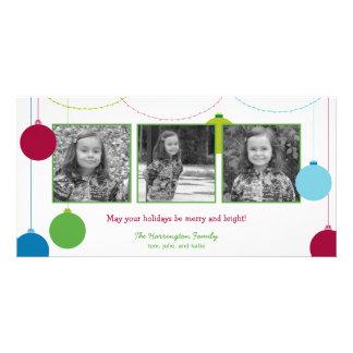 Natal moderno/cartões de natal das decorações cartão com foto