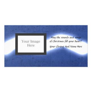 Natal musical cartão com fotos personalizado