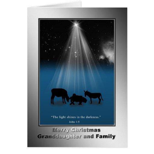 Natal, neta e família, religiosos cartoes