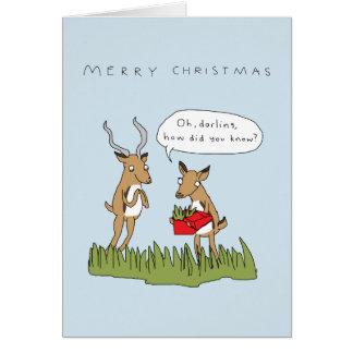 Natal no cartão engraçado do safari de Bush |