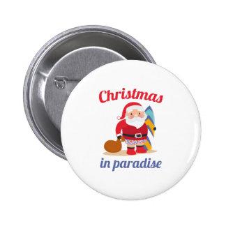 Natal no paraíso bóton redondo 5.08cm