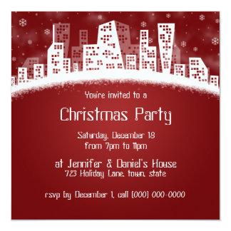 Natal nos convites de festas da cidade
