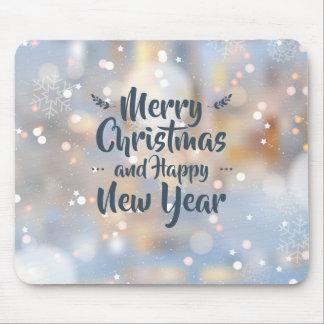 Natal & o feliz ano novo elegantes | Mousepad