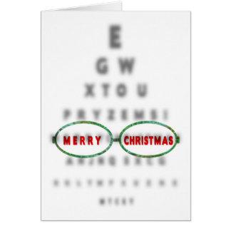 NATAL - optometrista - CARTA de OLHO Cartão Comemorativo