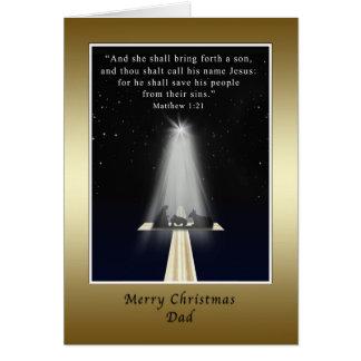 Natal, pai, religioso cartão comemorativo