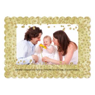 Natal personalizado brilho da foto dos confetes do convite 12.7 x 17.78cm
