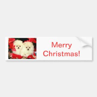 Natal Pomeranians Adesivo Para Carro
