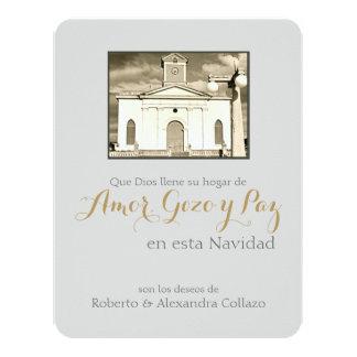 Natal porto-riquenho: Catedral católica Convite 10.79 X 13.97cm