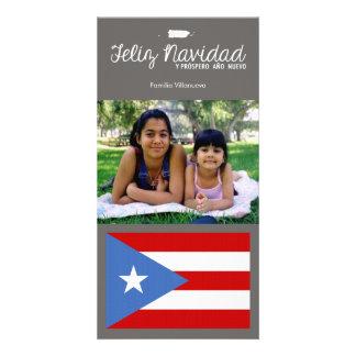 Natal porto-riquenho Feliz Navidad Cartão Com Foto