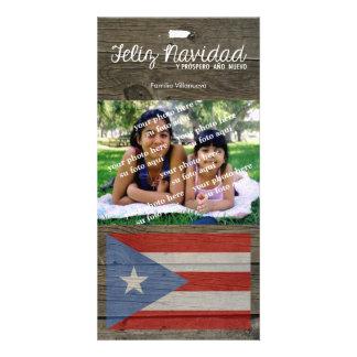 Natal porto-riquenho Feliz Navidad Cartão Com Fotos