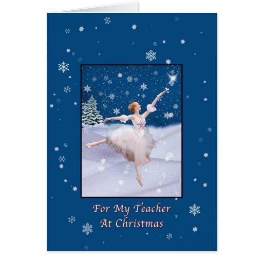 Natal, professor, cartão da bailarina da rainha da