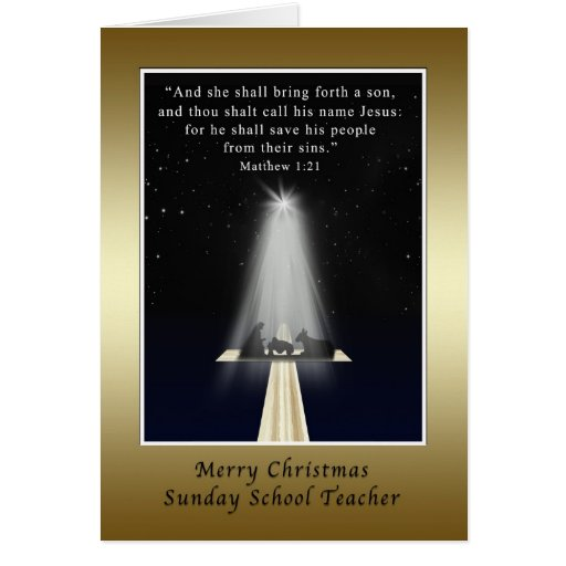 Natal, professor de catequese, religioso cartao