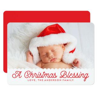 Natal que abençoa o cartão com fotos do feriado de