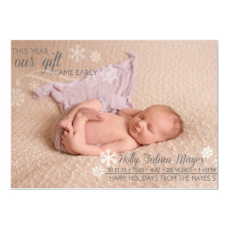 Natal recém-nascido convite 11.30 x 15.87cm