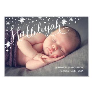Natal religioso completo da foto   da aleluia convite 12.7 x 17.78cm