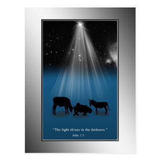 Natal, religioso, natividade, estrelas, cartão cartão postal