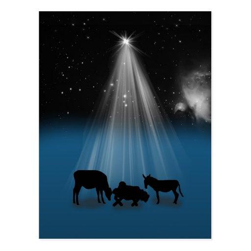 Natal, religioso, natividade, estrelas, cartão cartões postais