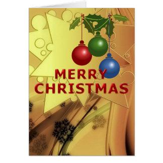 Natal Sparkling Cartão Comemorativo