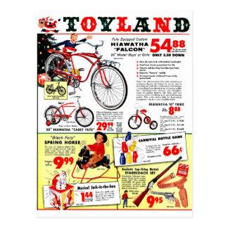 Natal Toyland Cartão Postal