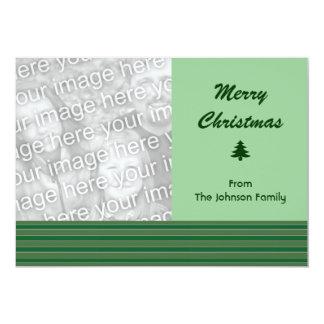Natal verde simples da listra convites
