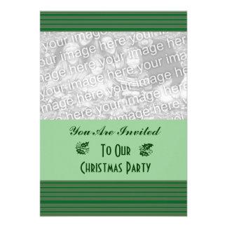 Natal verde simples da listra