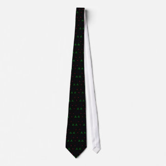 Natal verde vermelho no fundo preto gravata